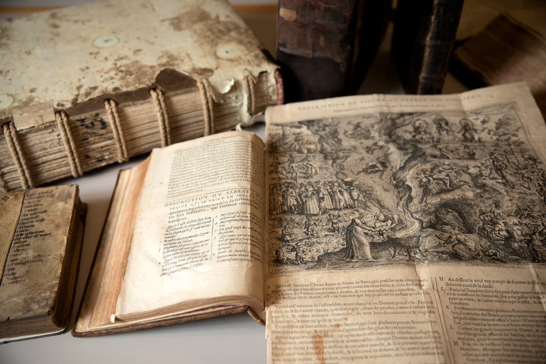 Witchcraft books in the Rare and Manuscript Collections (RMC).